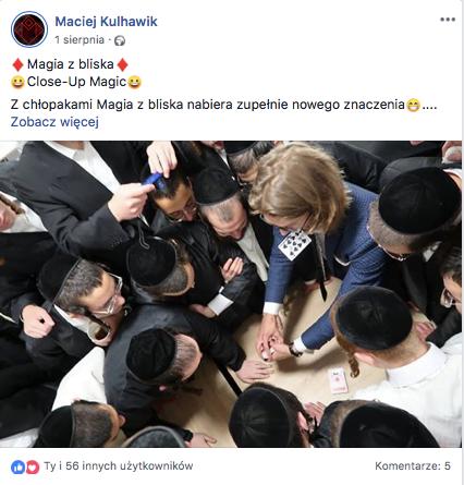 iluzjonista Kraków